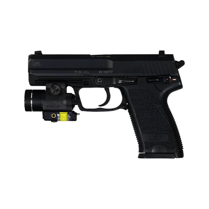 Pistolet Heckler & Koch model USP9 + TLR4