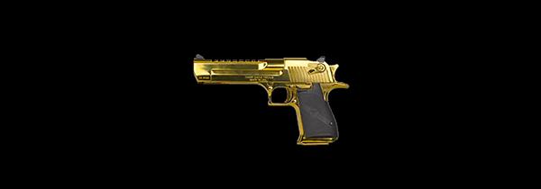 Desert Eagle Titanium Gold 44 Magnum
